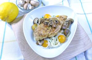 Chicken Marsala with Capellini
