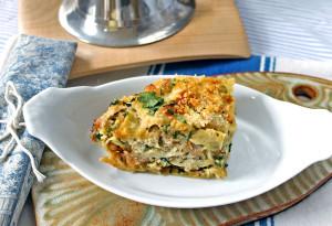 Seafood Lasagna with Mornay Sauce & Gruyere